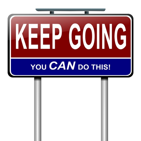 resilience: Illustration depicting a roadsign with a motivational concept  White  background  Stock Photo
