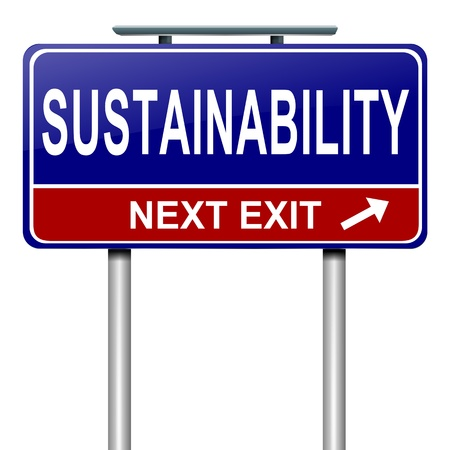 solarpower: Illustration depicting a roadsign with a sustainability concept. White background.
