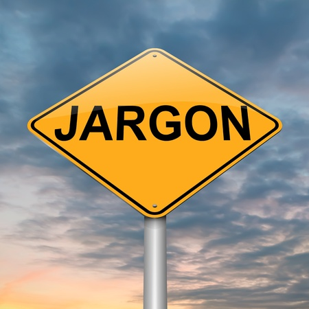 meaningless: Illustration depicting a roadsign with a jargon concept. Dusk sky background.