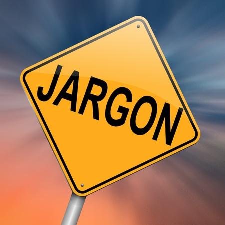 Unsinn: Die Illustration zeigt eine roadsign mit einem Jargon Konzept. Abstract background. Lizenzfreie Bilder