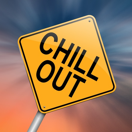 chilling out: Illustration depicting a roadsign with a
