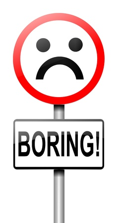 tiresome: Illustration depicting a roadsign with a bored concept. White background.
