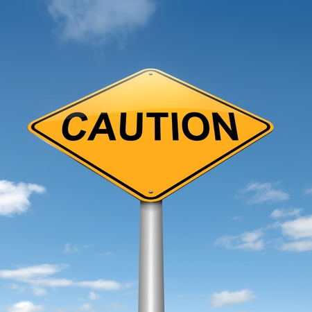 hazardous sign: Illustration depicting a roadsign with a caution concept  Sky background