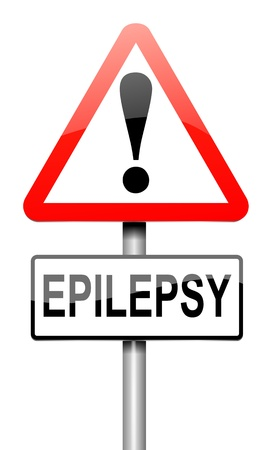 neurological: Illustration depicting a roadsign with an epilepsy concept. White background. Stock Photo