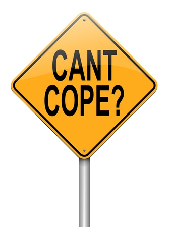 Illustration depicting a roadsign with a cant cope concept. White background. illustration