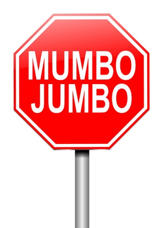 unclear: Illustration depicting a roadsign with a mumbo jumbo concept  White background