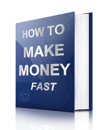 Illustration depicting a book with a making money concept title  White background  Stock Illustration - 16952398