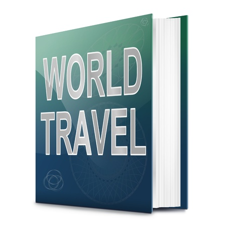 Illustration depicting a book with a world travel concept title. White background. Stock Illustration - 17223259