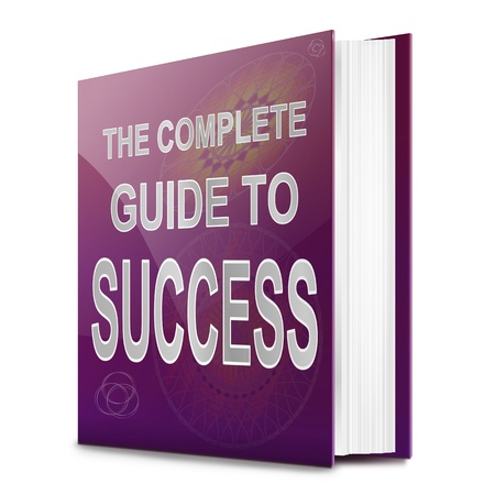 Illustration depicting a book with a success concept title  White background Stock Illustration - 17315592
