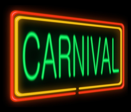 pageant: Illustration depicting a neon signage with a carnival concept. Stock Photo