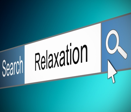 Illustration depicting a screen shot of an internet search bar containing a relaxation concept.  Stock Illustration - 17957688