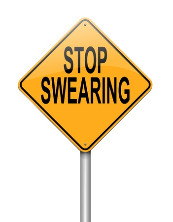 blasphemy: Illustration depicting a sign with a no swearing concept