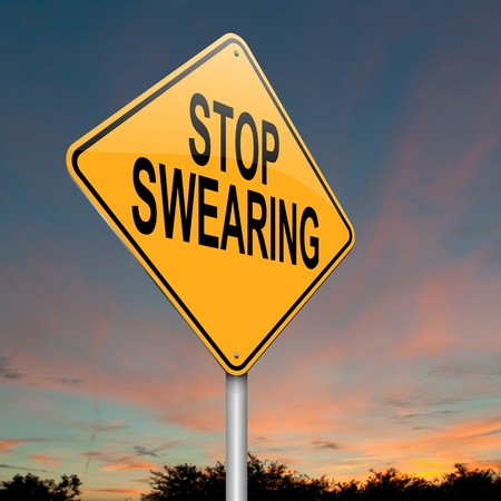 discord: Illustration depicting a sign with a no swearing concept