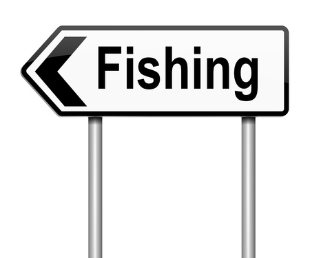 Illustration depicting a sign with a fishing concept Stock Illustration - 17957665