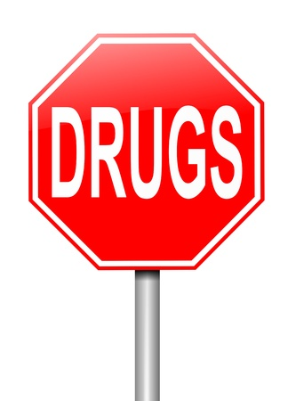 injected: Illustration depicting a sign with a drugs concept