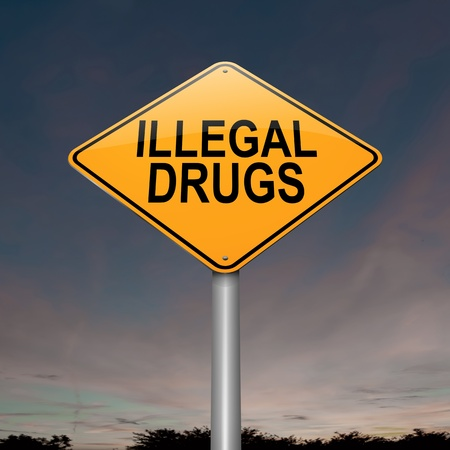 resin: Illustration depicting a sign with a drugs concept
