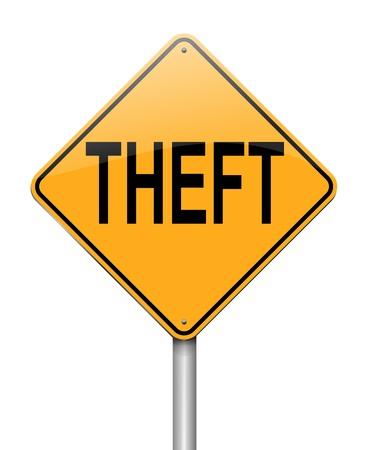 nicked: Ilustraci�n que muestra un cartel con un concepto de robos