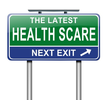 scare: Illustration depicting a sign with a health scare concept  Stock Photo