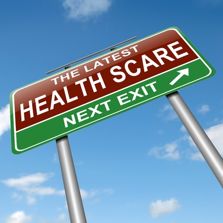 unfit: Illustration depicting a sign with a health scare concept  Stock Photo