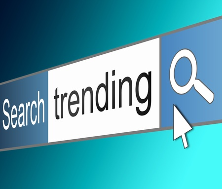 shared sharing: Illustration depicting a screen shot of an internet search bar containing a trending concept.