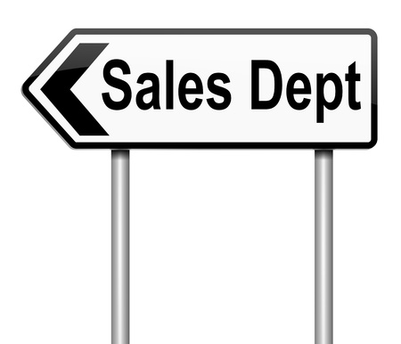 Illustration depicting a sign with a sales dept concept. Stock Photo
