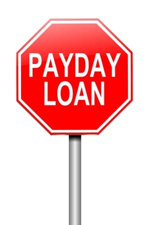 월급 날 대출 개념 기호를 묘사 한 그림. 스톡 콘텐츠