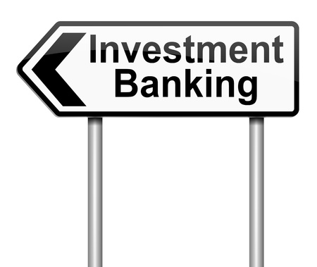 Illustration depicting a sign with an investment banking concept. Stock Illustration - 18689687