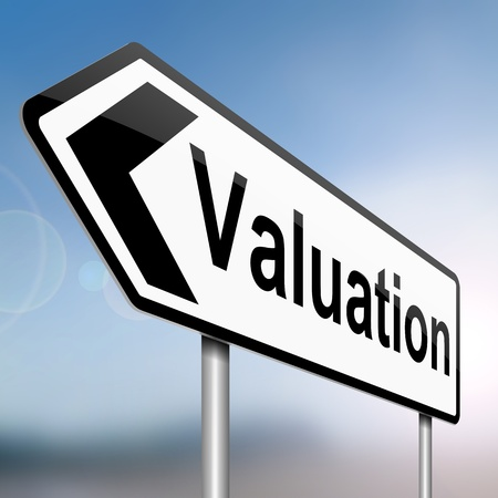 appraisal: Illustration depicting a sign with a valuation concept.