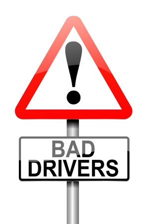 law breaking: Illustration depicting a sign with a bad driver concept