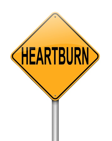 Illustration depicting a sign with a heartburn concept Stock Illustration - 19006357