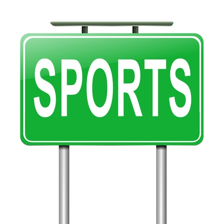 Illustration depicting a sign with a sports concept  Stock Illustration - 19006351