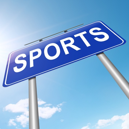 Illustration depicting a sign with a sports concept Stock Illustration - 19006378
