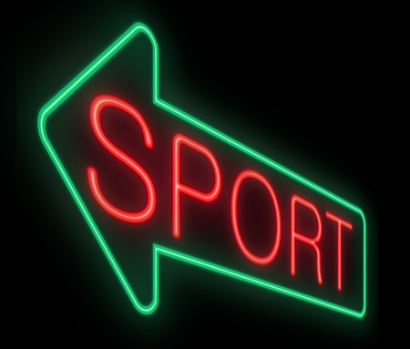 Illustration depicting a neon sign with a sports concept Stock Illustration - 19006376