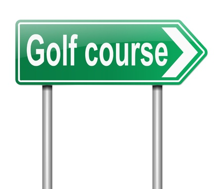 Illustration depicting a sign with a golf course concept Stock Illustration - 19438591