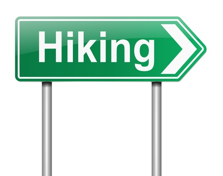 Illustration depicting a sign with a hiking concept Stock Illustration - 19438588