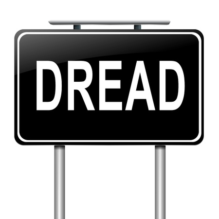 dread: Illustration depicting a sign with a dread concept