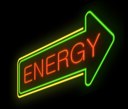 vivacity: Illustration depicting an illuminated neon sign with an energy concept