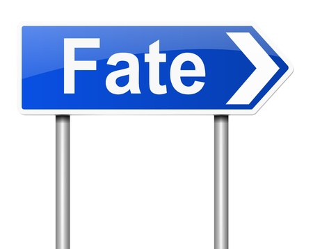 fateful: Illustration depicting a sign with a fate concept