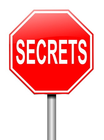 Illustration depicting a sign with a secrets concept Stock Illustration - 20134323