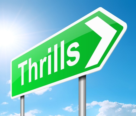 exhilarated: Illustration depicting a sign with a thrills concept  Stock Photo