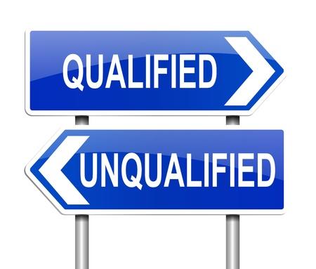 eligible: Ilustraci�n que muestra un letrero con un concepto de cualificaci�n Foto de archivo
