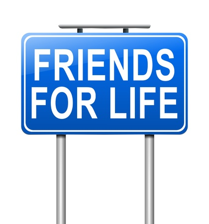 playmate: Illustration depicting a sign with a friends concept
