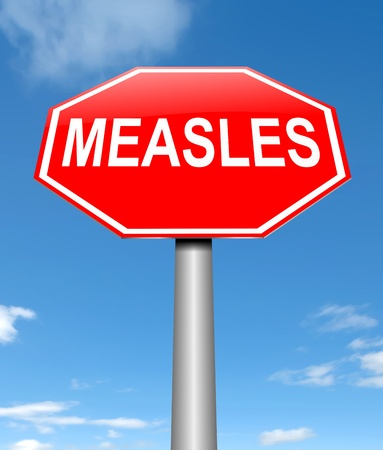 viral infection: Illustration depicting a sign with a measles concept. Stock Photo
