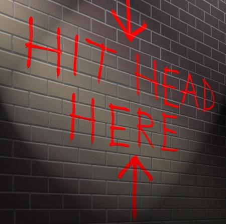 Ilustración que muestra graffiti en una pared de ladrillo con un concepto inútil. Foto de archivo - 20929740