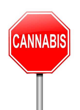 hashish: Illustration depicting a sign with a cannabis concept. Stock Photo