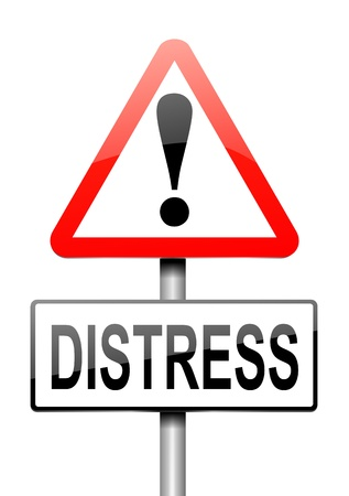 distressing: Illustration depicting a sign with a distress concept.