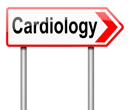 defects: Illustration depicting a sign with a Cardiology concept.