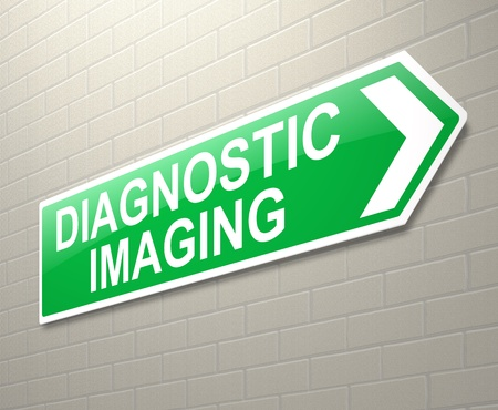 imaging: Illustration depicting a sign with a Diagnostic Imaging concept.