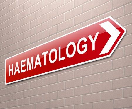 Illustration depicting a sign directing to Haematology. illustration