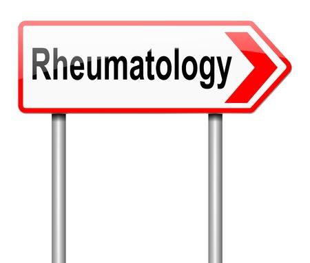 rheumatoid: Illustration depicting a sign directing to Rheumatology.
